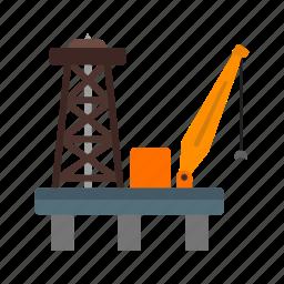 energy, fuel, gas, industrial, industry, oil, platform icon