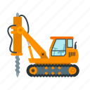 construction, drilling, engineering, equipment, industry, machinery, vehicle
