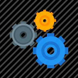 cogwheel, engineering, gear, industry, mechanical, movement, transmission icon