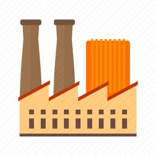 building, concrete, factory, industrial, plant, structure, work icon
