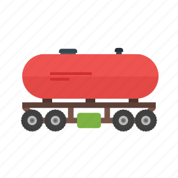 freight, fuel, oil, railroad, tank, transport, wagon icon
