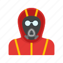 chemical, equipment, fear, gas, mask, protection, radiation icon