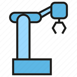 automation, industry, manufacturing, production, robot, robotic arm, robotics icon