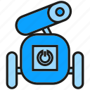 android, automation, cyborg, rescue robot, robot, robotics, toy icon