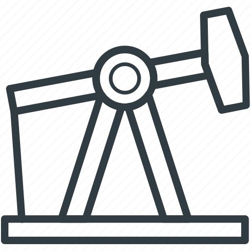 oil pumpjack, oil well pumpjack, oilfield, pumpjack, refinery icon