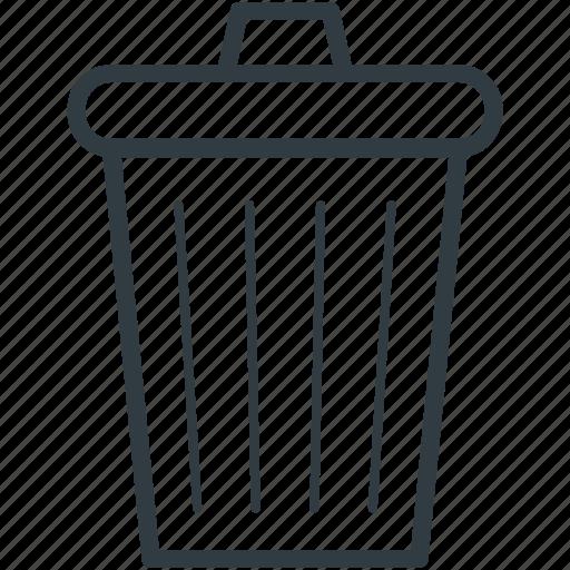 ash bin, dustbin, garbage can, trash can, wastebin icon