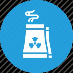 economy, factory, industry, production, radiactor, radiation, radioactive icon