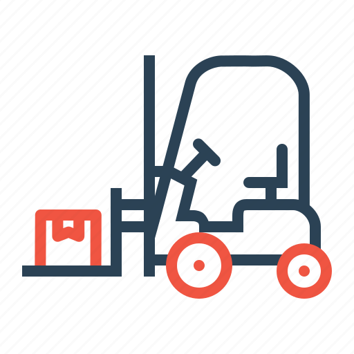 Boxes, delivery, forklift, goods, parcel, shipping, transport icon - Download on Iconfinder