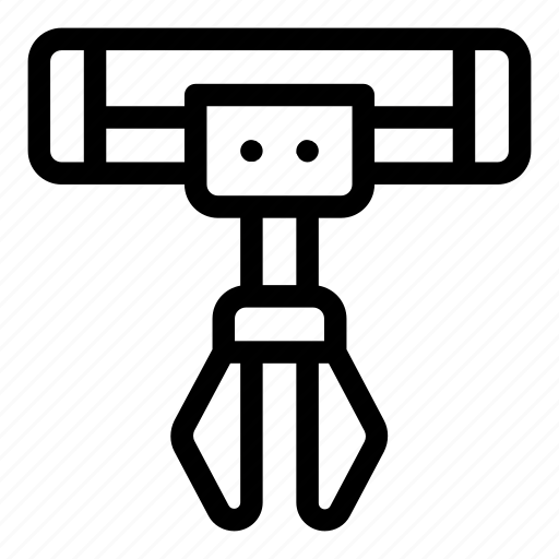 business and finance, factory, industry, manipulator, robotic arm icon