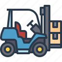 car, forklift, industry, manufacturing icon
