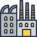 building, factory, industry, manufacturing icon
