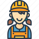 avatar, engineer, job, people, woman icon