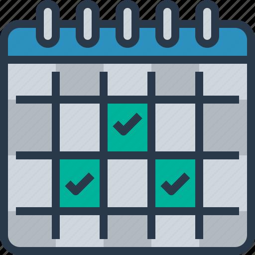business, calendar, checklist, event, management icon