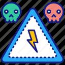 voltage, warning, danger, high, electricity