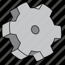 cog, construction, gear, industry, machine, setting, wheel icon