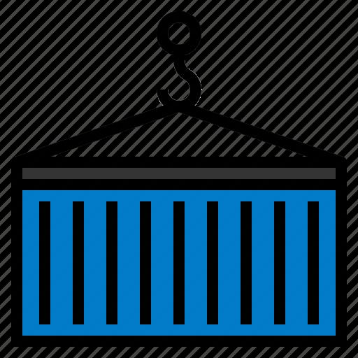 cargo, cargocontainer, container, shipping, shippingcontainer icon