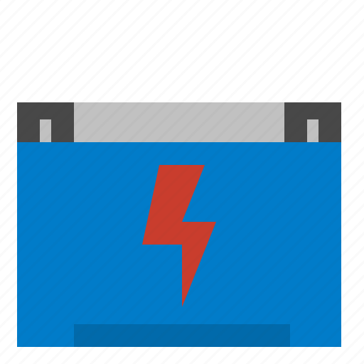 battery, car, industry icon