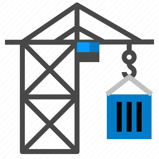 crane, equipment, hook, machinery icon