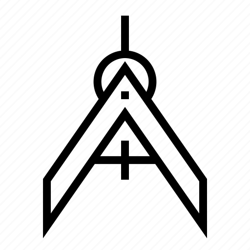 architecture, compass, design, dividers, drawing, navigation, tool icon
