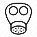 asbestos, gas, mask icon