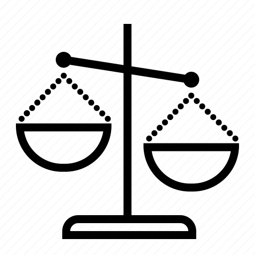 accountancy, court, justice, law, legal, scales icon