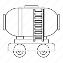 industry, line, oil, outline, storage, tank, waggon icon