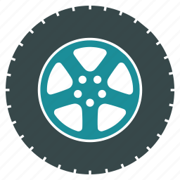 car, gear, service, tire, transport, vehicle, wheel icon