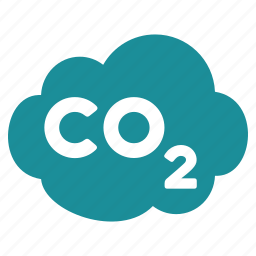 carbon cloud, cloud, co2 emission, dioxide, ecology waste, gas, industrial pollution icon