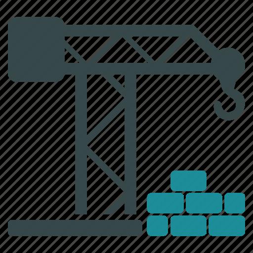 build, building, construction, crane, development, industry, project icon