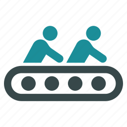 conveyor, factory, industrial, industry, machine, process, production icon