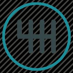 development, gear box, gears, mechanics, settings, system, transmission icon