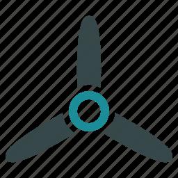 cooler, fan, motor, propeller, rotor, screw, turbine icon
