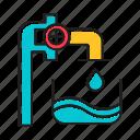 blue, clear, drink, drip, industry, splash, water icon