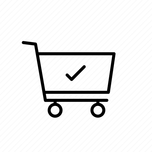 buy, cart, checkmark, ecommerce, purchase, shop, shopping icon