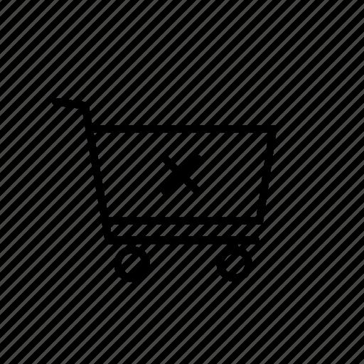 cancel, cart, close, cross, empty, shop, shopping icon