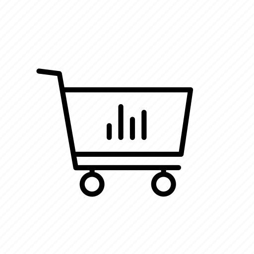 cart, data, graph, shop, shopping, stat, statistic icon