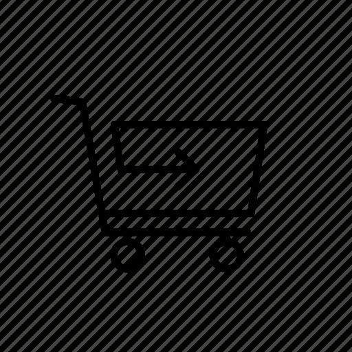 arrow, buy, cart, go, return, shop, shopping icon