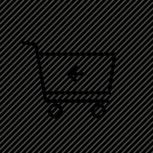 arrow, back, buy, cart, return, shop, shopping icon