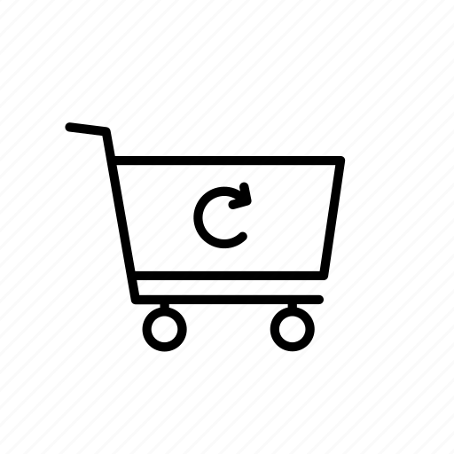 buy, cart, loop, purchase, refresh, shop, shopping icon