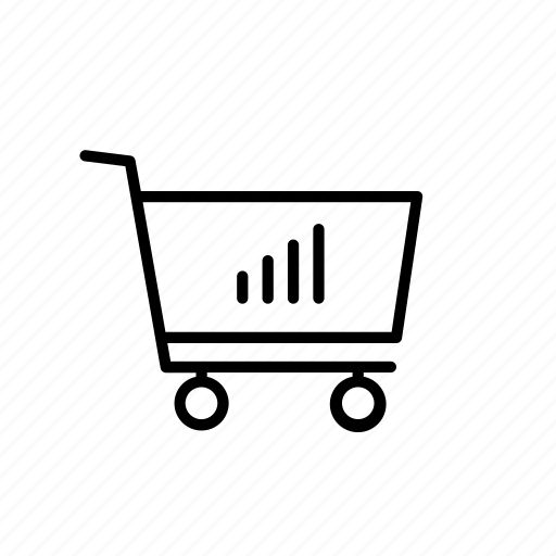 cart, graph, purchase, shop, shopping, signal, stat icon
