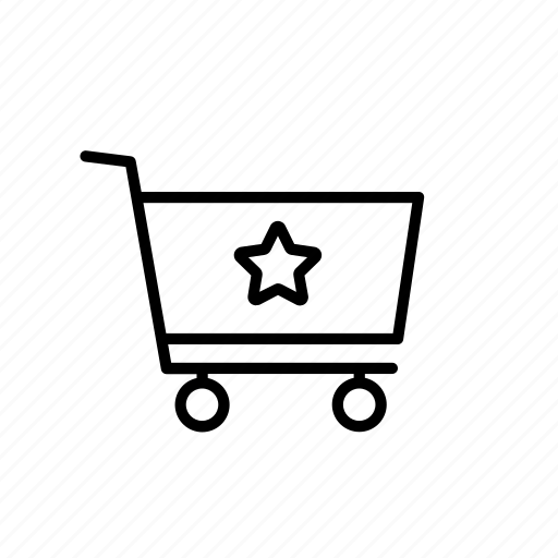 buy, cart, favourite, save, shop, shopping, star icon