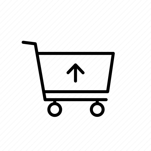 arrow, buy, cart, shop, shopping, up, upload icon