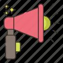 amplify, marketing, megaphone icon