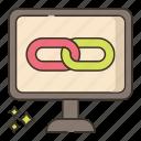 backlink, business, marketing icon