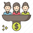 conversion, currency, marketing icon