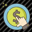 click, cost, marketing, per icon