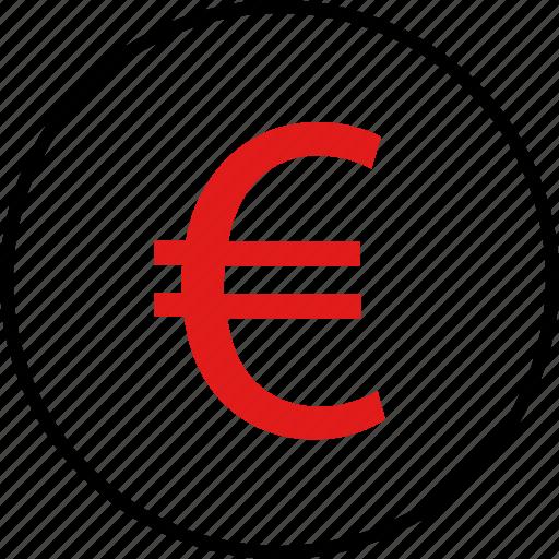 business, euro, money, sign icon
