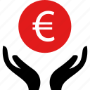 business, euro, pay, sign icon