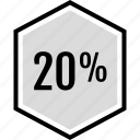 data, infographic, information, percent, seo, twenty icon