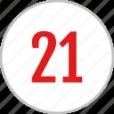 clean, dashboard, number, one, twenty, ui icon